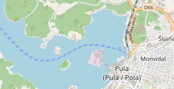 Karte Kroatien Pula.Aci Marina Pula Marina In Kroatien